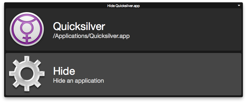 Nostromo Interface for Quicksilver