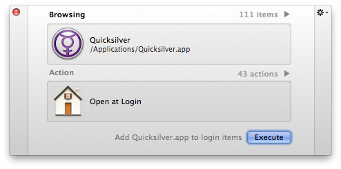 Primer Interface for Quicksilver