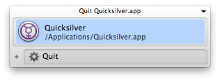 Window Interface for Quicksilver